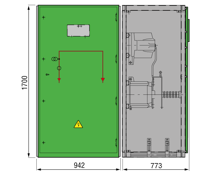 DRIESCHER GISELA Messfeld typgeprüft nach IEC 62271-200