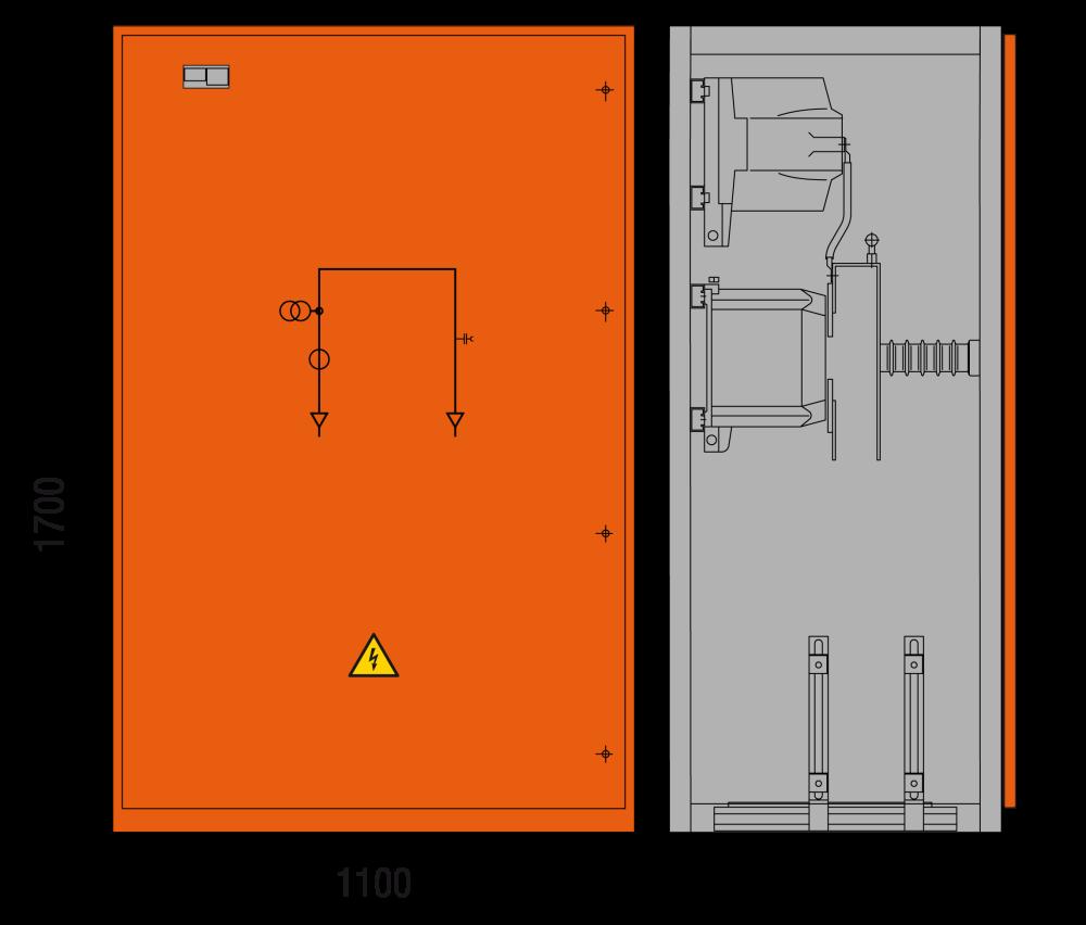 DRIESCHER MINEX-F ABS Messfeld typgeprüft nach IEC 62271-200
