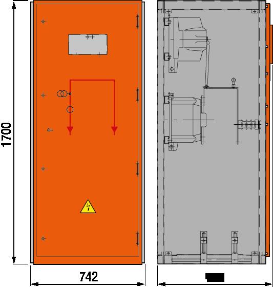 DRIESCHER MINEX-F ABS Messfeld mit Relaiskasten typgeprüft nach IEC 62271-200