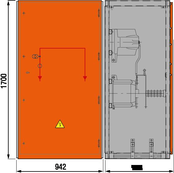 DRIESCHER MINEX-F ABS Messfeld ohne Sekundärabsicherung typgeprüft nach IEC 62271-200