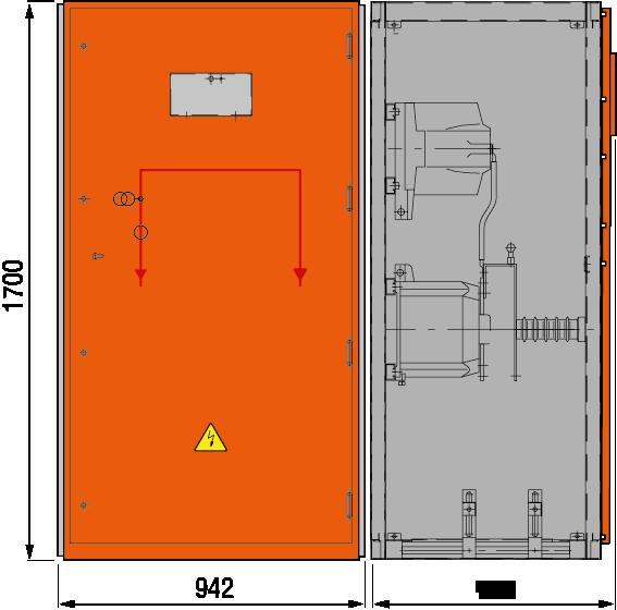 DRIESCHER MINEX-F ABS Messfeld mit Sekundärabsicherung typgeprüft nach IEC 62271-200
