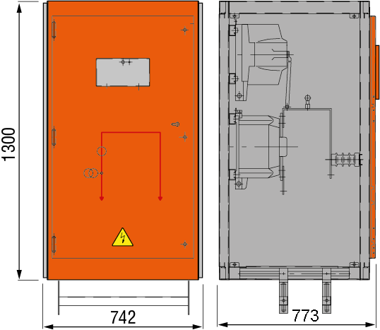 DRIESCHER MINEX ABS Messfeld mit Sekundärabsicherung typgeprüft nach IEC 62271-200