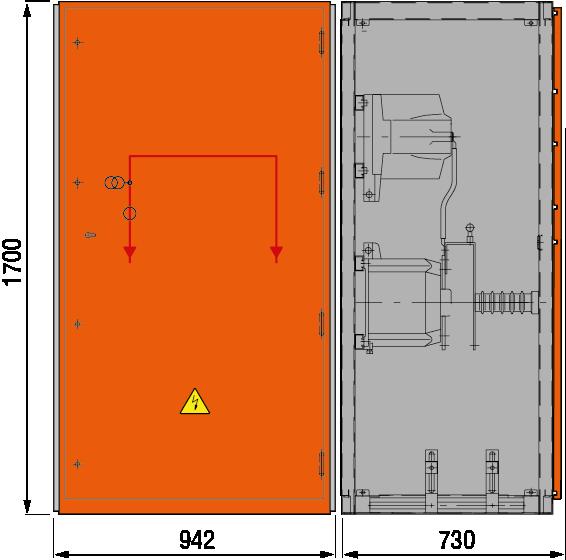 DRIESCHER MINEX ABS Messfeld ohne Sekundärabsicherung typgeprüft nach IEC 62271-200