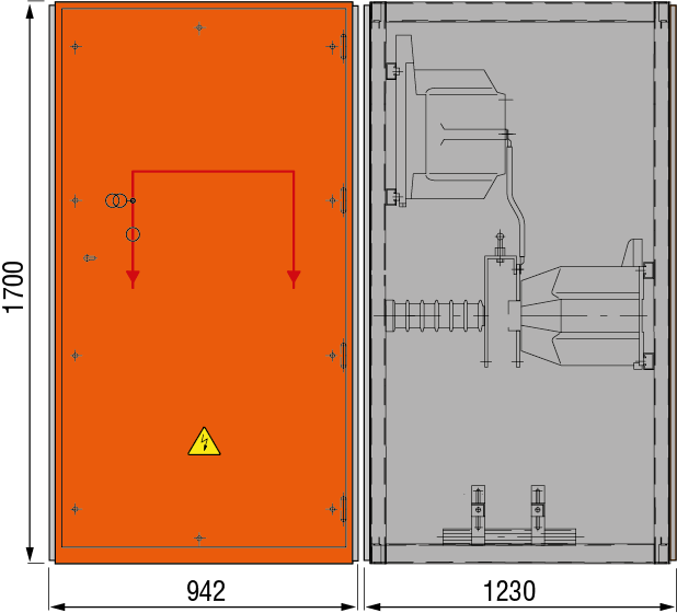 DRIESCHER MINEX-F Messfeld ohne Sekundärabsicherung typgeprüft nach IEC 62271-200