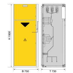 12 kV Messfeld 750 x 730