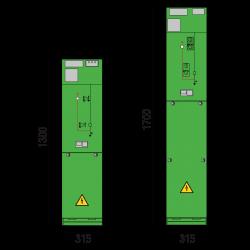 24 kV Kabelfeld 315 x 1300/1700 mm