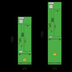 17,5 kV Trafofeld 370 x 1300/1700 mm