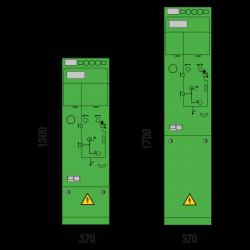24 kV Vakuumschutzschalterfeld 370 x 1300/1700 mm