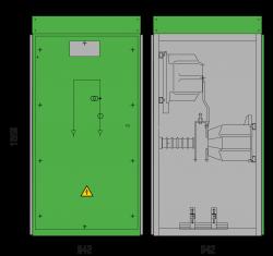 36 kV GISELA Messfeld 1245 x 942 x 1858 mm