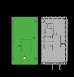 12 kV GISELA Messfeld 742 x 730 x 1300 mm