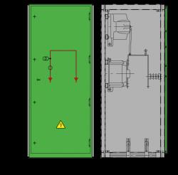 12 kV GISELA Messfeld 742 x 730 x 1700 mm