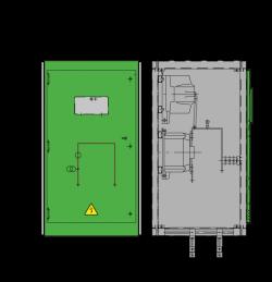 12 kV GISELA Messfeld 742 x 745 x 1300 mm