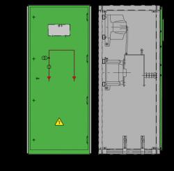 12 kV GISELA Messfeld 742 x 745 x 1700 mm