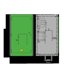 12 kV GISELA Messfeld 742 x 758 x 1300 mm