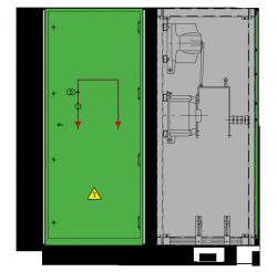 12 kV GISELA Messfeld 742 x 758 x 1700 mm