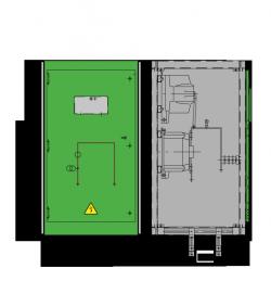 12 kV GISELA Messfeld 742 x 773 x 1300 mm