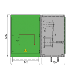 17,5 kV GISELA Messfeld 942 x 730 x 1300 mm
