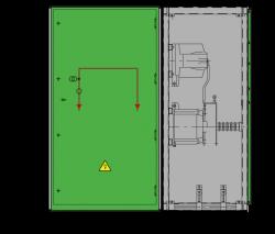 17,5 kV GISELA Messfeld 942 x 730 x 1700 mm