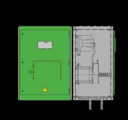 17,5 kV GISELA Messfeld 942 x 745 x 1300 mm