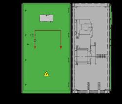 17,5 kV GISELA Messfeld 942 x 745 x 1700 mm