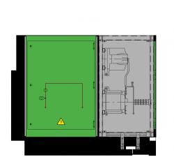 24 kV GISELA Messfeld 942 x 758 x 1300 mm