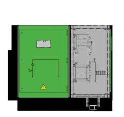 24 kV GISELA Messfeld 942 x 773 x 1300 mm