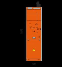 24 kV Leistungsschalterfeld 500 x 1876 mm