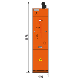24 kV Trafofeld 440 x 1876 mm (Tiefe 574 mm)