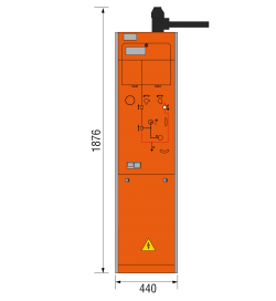 24 kV Vakuumschutzschalterfeld 440 x 1876 mm