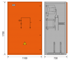 17,5 Messfeld 1100 x 730 x 1700 mm