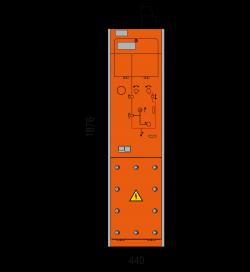 17,5 kV Vakuumschutzschalterfeld 440 x 1876 mm