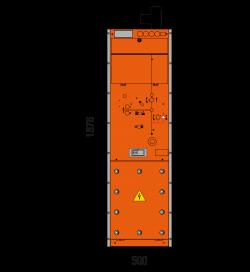 36 kV Leistungsschalterfeld 500 x 1876 mm