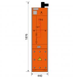 17,5 kV Trafofeld 440 x 1876 mm (Tiefe 591 mm)