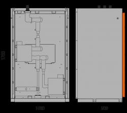 17,5 kV Messfeld 1060 x 909 x 1753 mm mit metallisierten Wandlern