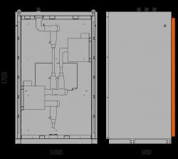 24 kV Messfeld 1060 x 909 x 1753 mm mit metallisierten Wandlern