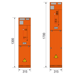 17,5 kV Kabelfeld 315 x 1300/1700 mm