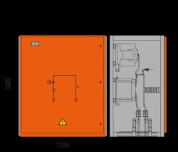 17,5 kV Messfeld 1134 x 758 x 1300 mm