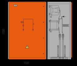 17,5 kV Messfeld 1134 x 758 x 1700 mm