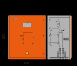 17,5 kV Messfeld 1134 x 773 x 1300 mm