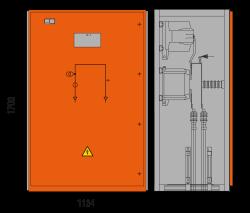 17,5 kV Messfeld 1134 x 773 x 1700 mm