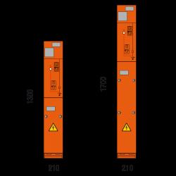 17,5 kV Kabelfeld 210 x 1300/1700 mm