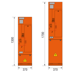 12 kV Trafofeld 370 x 1300/1700 mm (Tiefe 571 mm)