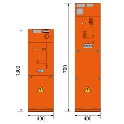 17,5 kV Kabelfeld 400 x 1300/1700 mm