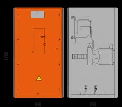 36 kV Messfeld 942 x 1273 x 1700 mm