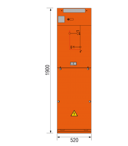40,5 kV Kabelfeld 520 x 1900 mm
