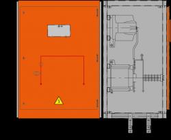 24 kV Messfeld 942 x 773 x 1300 mm