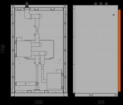 12 kV Messfeld 1060 x 909 x 1753 mm mit metallisierten Wandlern