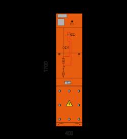 36 kV Trafofeld 400 x 1700 mm