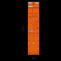 24 kV Vakuumschutzschalterfeld 370 x 1700 mm