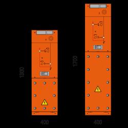 36 kV Kabelfeld 400 x 1300/1700 mm